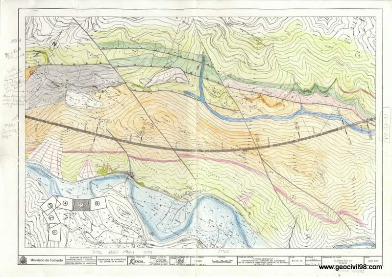 Plano geológico de mano