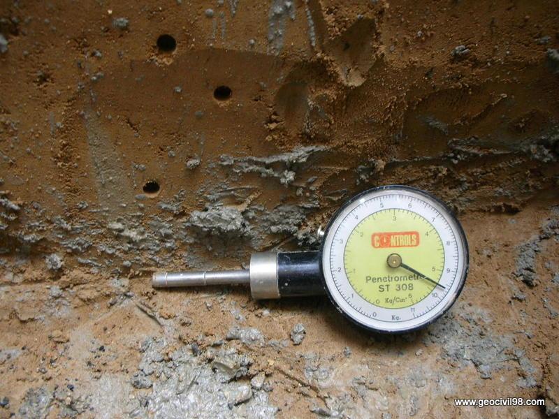 Penetrómetro manual, estudios geotécnicos, geotecnia