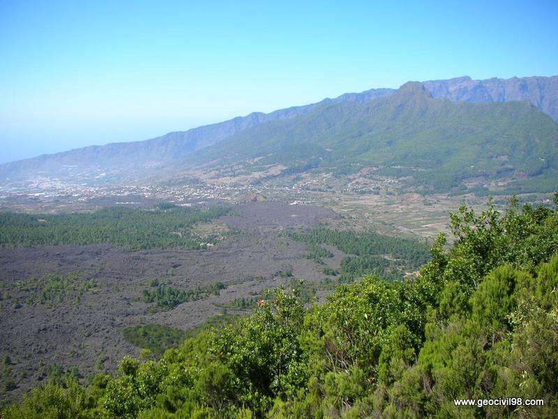 Malpaís de Montaña Quemada, La Palma, geología, geotecnia, estudios geotécnicos, departamento de geologíade Geocivil 98