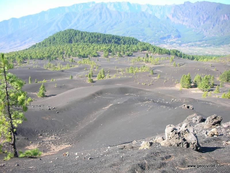 Campo de piroclastos, La Palma, geología, geotecnia, estudios geotécnicos, departamento de geologíade Geocivil 98