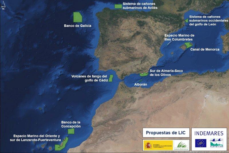 Mapa Nacional propuesta de Lugares de Importancia Comunitaria. Medio Ambiente. Estudios AmbientalesGeotecnia Civil 98