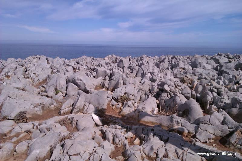 Lapiaz en los bufones de Pría, geología, La Escuelona, Geotecnia Civil 98