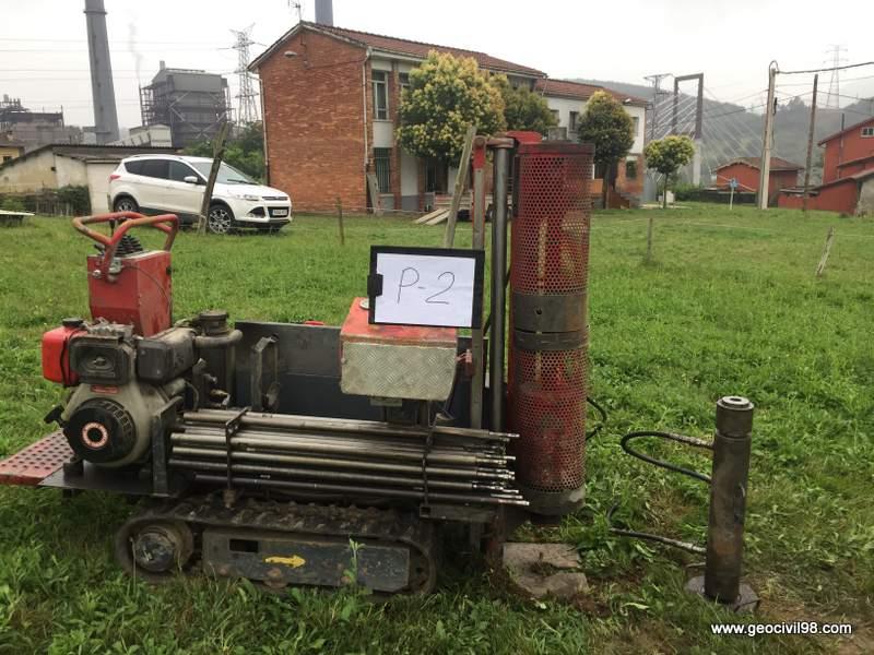 Ensayo de penetración dinámica, estudio geotécnio centro social ayuntamiento de Ribera de Arriba