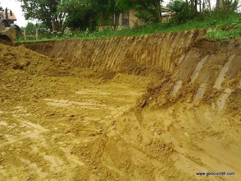 Taludes de la excavación de El Robleu