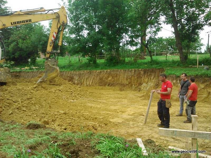 Supervisión de la excavación