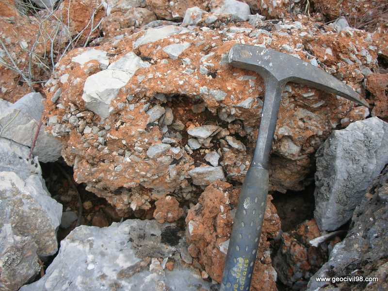 Brecha calcárea, Torcal de Antequera, departamento de geología de Geocivil 98