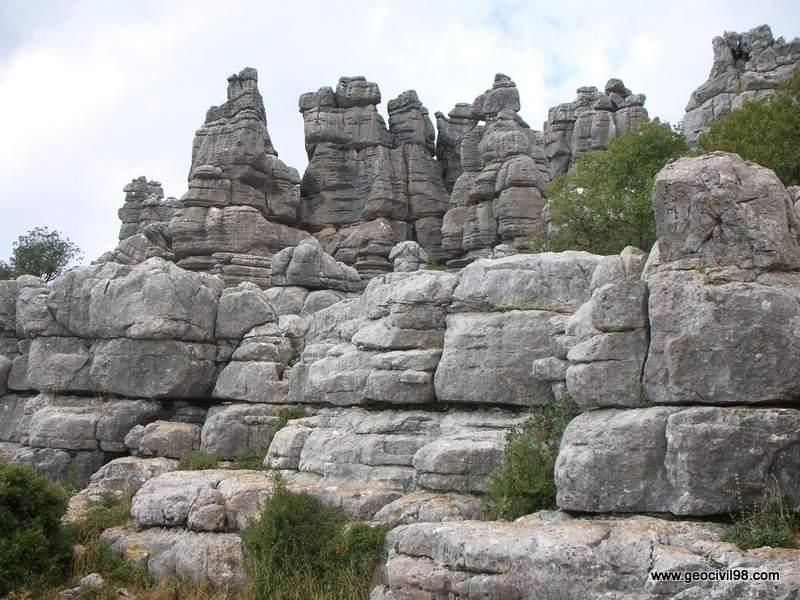 Mesas, Torcal de Antequera, departamento de geología de Geocivil 98