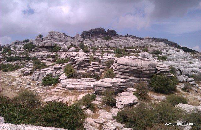Vista típica 3, Torcal de Antequera, departamento de geología de Geocivil 98