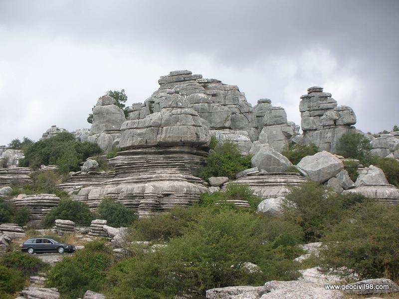 Vista típica del Torcal, Torcal de Antequera, departamento de geología de Geocivil 98