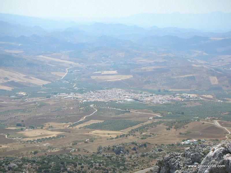 Vista de Villanueva de la Concepción, Torcal de Antequera, departamento de geología de Geocivil 98