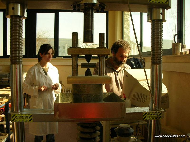 Ensayo de carga puntual, ensayos de laboratorio, estudios geotécnicos en Asturias