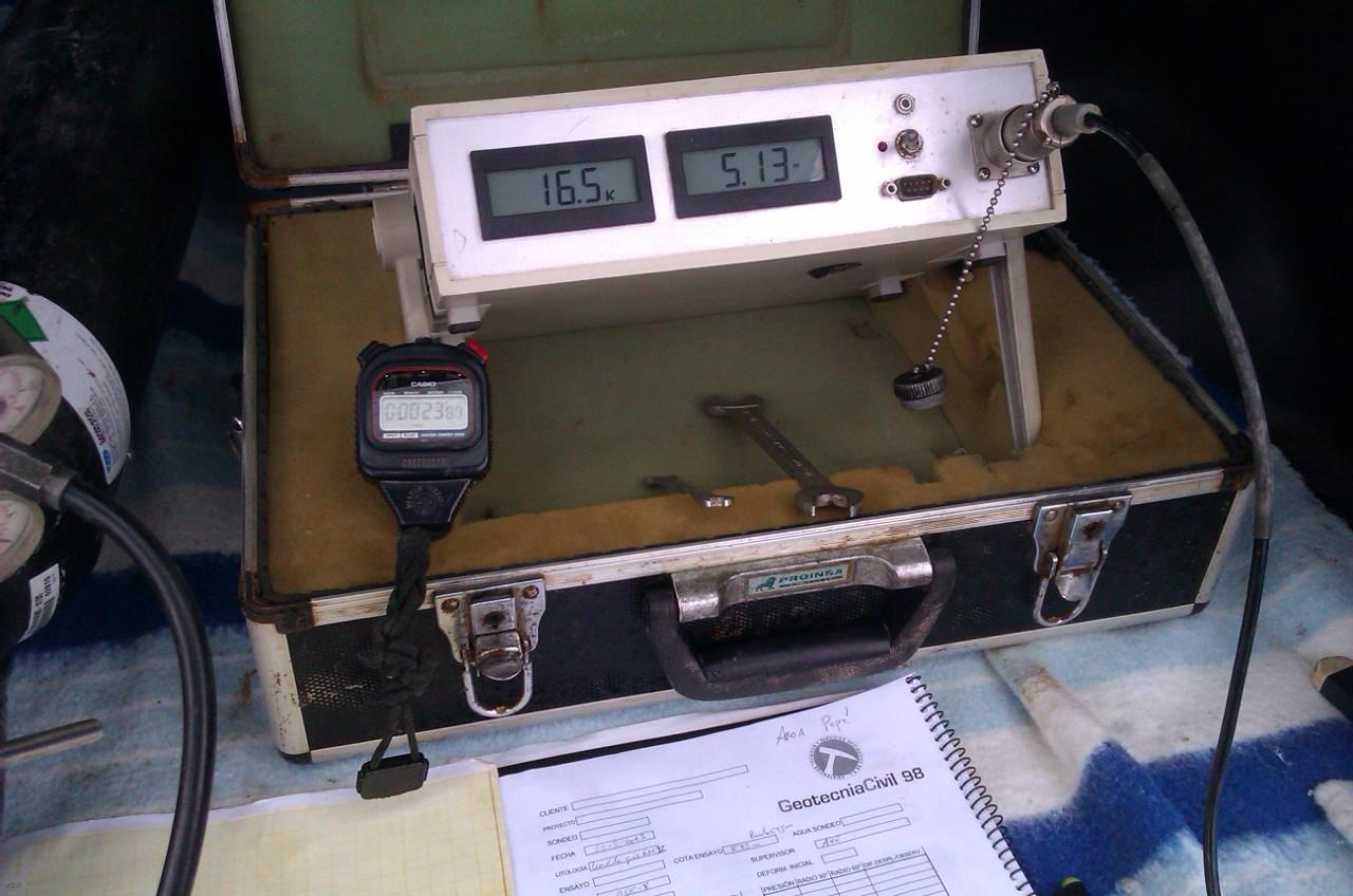 Trabajos de ensayos presiométricos